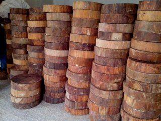 加工厂是如何保存处理越南枧木砧板原料?
