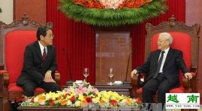 越共中央总书记阮富仲会见日本新任驻越大使